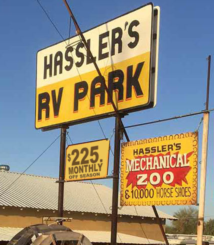 Hassler's New-Price-Sign